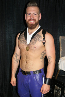 Mr Midwest Leather 2013 Cody Troy was second runner up at IML Photo by Dave Rhodes Web