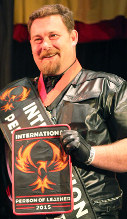 International Person of Leather 2015 Papa Bear. Supplied by Andrew Love