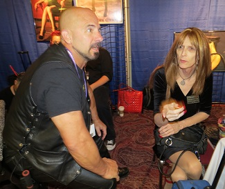 Mistress Cyan Entettains at the Sanctuary LAX Booth By Dave Rhodes